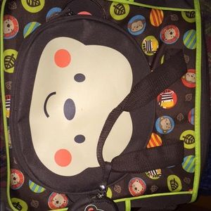 Diaper bag , swaddle and wipes holder